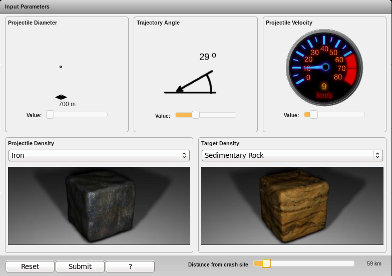 Screenshot of Impact Calculator