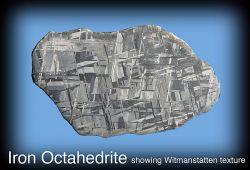 Iron Octahedrite, showing Widmanstatten texture